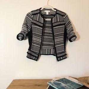 H&M Mixed Media Printed Blazer
